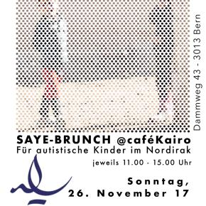 So, 26. November 2017: Saye-Brunch im Café Kairo